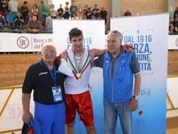 Tommaso Rossano a Cassino con il maestro Mimmo Brillantino