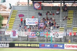 I tifosi dela Virtus Verona salutano i casertani