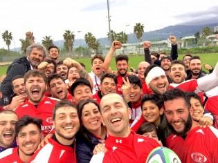 Il selfie della vittoria del Rende a fine gara (foto: Katia Ruocco)