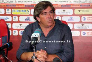 """Casertana, Tilia frena sul mercato: """"La squadra è già competitiva così. L'attaccante? Stiamo valutando"""""""