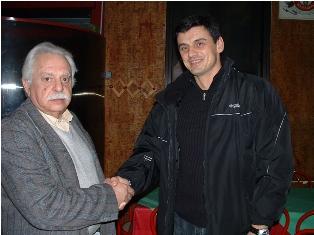 Dusan Vidovic con Lello Brusa ai tempi del Caserta
