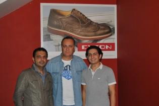 Agostino Diana, il Presidente del Volleyball Aversa Sergio DiMeo ed uno dei titolari Enzo Diana
