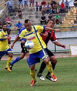 Evian Cunzi in gol ad Aversa