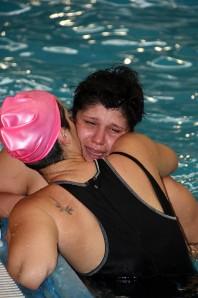 Le lacrime di Caterina Ciampichetti a fine match