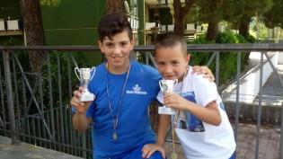 Luigi Mastroianni e Antonio Mastrati con i rispettivi premi.