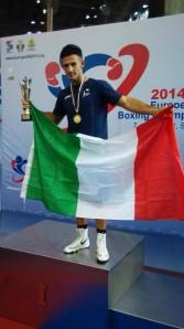 Vincenzo Mangiacapre, oltre all'oro nei 64 kg, eletto miglior pugile della manifestazione