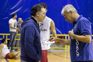 Il presidente Di Meo con coach Draganov