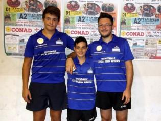 Da sinistra: Matteo Sullo, Riccardo Varone e Mario Buonamano
