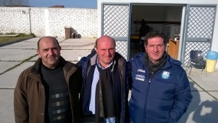Raffaele Iannotta, Modesto Giraldi e Giuseppe Iannotta della Real Maceratese