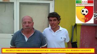 Michele Corsale e Tiziano Montefusco (foto Ufficio Stampa F.C. Hermes Casagiove)